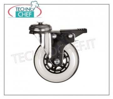 Technochef - Kit 4 elastic wheels, 2 of which with brake, mod. IS KIT 4 elastic wheels diameter 125 mm, 2 of which with brake