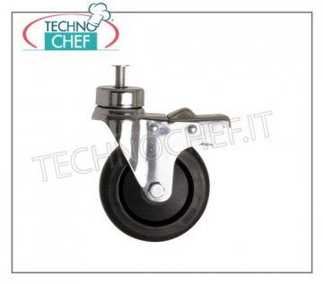 Technochef - Kit 2 wheels with brake, mod. F / 64 KIT 2 wheels with brake