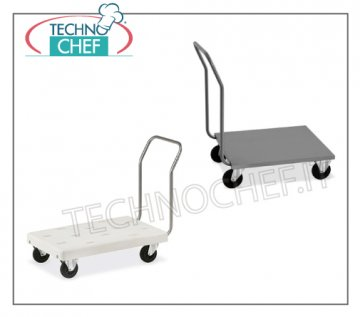 Technochef - TROLLEY with PIANALE BASSO, Portacasse, Heavy Transport, art. 1840 Box trolleys - base with round tube handle, 2.5 cm diameter, max 200Kg, dimensions 1120x570x1000h mm