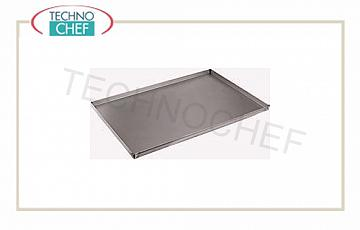 Technochef - Trays in Aluminized sheet with 2 cm high edge, full range Rectangular Pizza-Paste Pan in aluminised sheet, 20 mm high edge, 0.8 mm thick, dim. mm. 200x400x20h