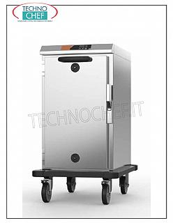 Temperature maintainer, Static HOT cart for 8 GN 1/1 LOW CONSUMPTION HOT STORAGE CART for 8 GN 1/1, V 230/1, 1.0 kw, Weight 46 Kg, dimensions 550x740x1000h mm