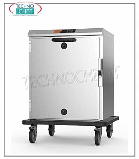 Temperature maintainer, Static HOT cart for 8 GN 2/1 LOW CONSUMPTION HOT STORAGE CART for 8 GN 2/1 or 16 GN 1/1, V 230/1 trays, 1.5 kw, Weight 62 Kg, dimensions 755x860x1000h mm