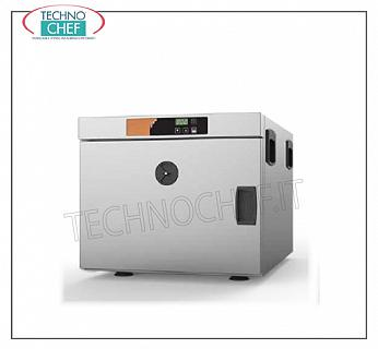 Temperature maintainer, static warm cabinet, for 3 Gastro-Norm 1/1 Trays STATIC CONSUMPTION HOT CABINET LOW CONSUMPTION counter, capacity 3 GN 1/1 trays 150 mm high, V 230/1, 0.7 kw, Weight 22 Kg, dimensions 450x635x400h mm