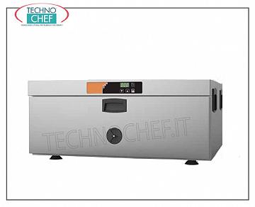 Temperature maintainer, warm static drawer for 1 Gastro-norm baking tray 1/1 STATIC CONSUMPTION HOT DRAWER on the counter, for 1 GN 1/1 tray, 150 mm high, V 230/1, 0.7 kw, Weight 31 Kg, dimensions 650x585x295h mm