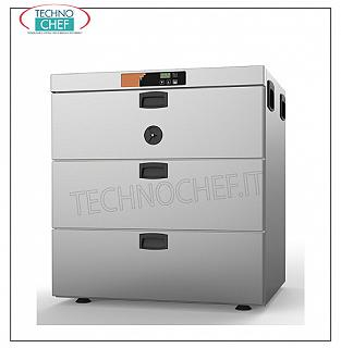 Temperature maintainer, HOT MAINTENANCE Chest of drawers, Static for 3 Gastro-norm trays 1/1 HOT HOLDING CHEST OF DRAWERS, STATIC CONSUMPTION LOW CONSUMPTION, with 3 drawers for 3 GN 1/1 trays, 150 mm high, V 230/1, kw 1.0, Weight 67 Kg, dimensions 660x620x710h mm