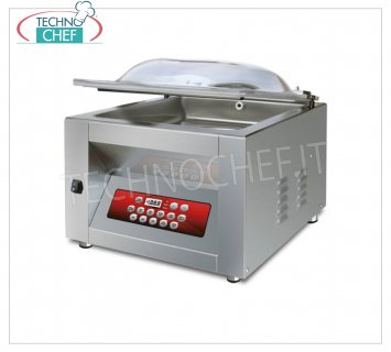 EUROMATIC - Technochef, Bell Vacuum Machine, 2 Bars 45 cm, Mod.MIXER DUO DISPLAY VACUUM PACKAGING MACHINE with PROFESSIONAL BENCH, CAMERA mm.500x460x220h, 2 WELDING BARS 450 mm, VACUUM PUMP 20/24 meters / cubic / hour, V.230 / 1, Kw. 0.95, Weight 70 Kg, dim.mm.600x560x450h