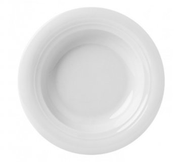 GURAL PORSELEN - SOUP PLATE Moscow, 23 cm SOUP PLATE cm.23, Collection Moscow White, Brand GÜRAL PORSELEN - Available in 12 pieces pack