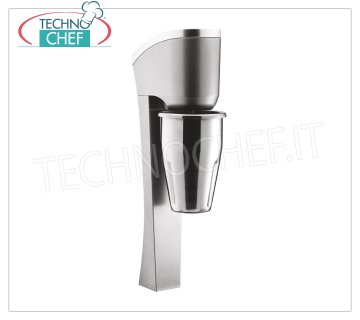 TECHNOCHEF - Professional Wall Blender with Stainless Steel Cup, Mod.MP98 PROFESSIONAL WALL MIXER for the preparation of milkshakes, milk shakes and cocktails, structure in LIGHT ALLOY and STEEL, container in STAINLESS STEEL lt.0,9, V.230 / 1, Kw 0,3, Weight 2,9 Kg, dim.mm.150x100x440h