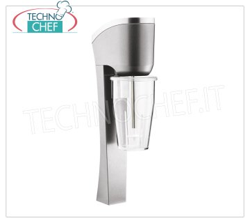 TECHNOCHEF - Professional Wall Blender with Polycarbonate Tumbler, Mod.MP98T PROFESSIONAL WALL MIXER for the preparation of milkshakes, milk shakes and cocktails, structure in LIGHT ALLOY and STEEL, container in TRANSPARENT POLYCARBONATE lt.0,9, V.230 / 1, Kw.0,3, Weight 2,9 Kg , dim.mm.150x100x440h