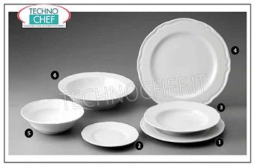 SATURNIA - PRAGA BIANCO Porcelain Collection - Restaurant Plates FLAT PLATE, White Prague Collection, Diameter cm.28, Brand SATURNIA - Available for purchase in packs of 6