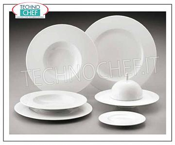 GREEN COAST - Porcelain for Restaurant DISHES, Saturno Bianco Collection, Brand COSTA VERDE