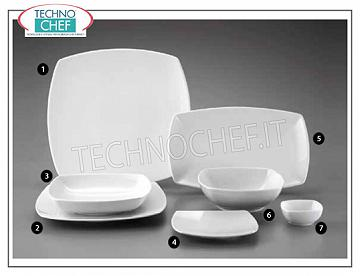 SATURNIA - TOKIO BIANCO Porcelain Collection - Restaurant Dishes FLAT PLATE, Tokio Bianco Collection, cm.31x31, Brand SATURNIA - Available in packs of 4 pieces