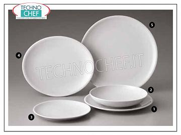 SATURNIA - SEVILLE WHITE Porcelain Collection - Restaurant Plates FLAT PLATE, Siviglia Collection Bianco, Diameter cm.28, Brand SATURNIA - Available for purchase in packs of 6