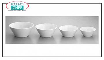 Porcelain tableware CONICAL SALAD BOWL, Napoli collection, SATURNIA brand