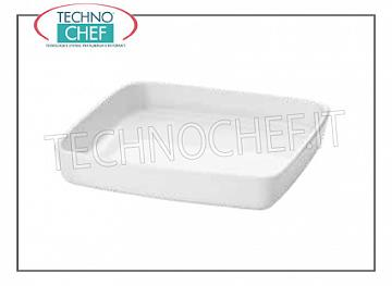 Porcelain bakeware Square baking dish, cm.22x22, h.5, Brand MPS PORCELLANE SARONNO - Purchasable in 2-piece pack