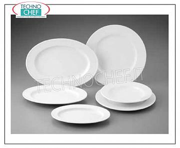 GURAL PORSELEN - Porcelain for restaurant FLAT PLATE, Delta Bianco Collection, 32 cm., Brand GÜRAL PORSELEN - Available in 6 pieces pack