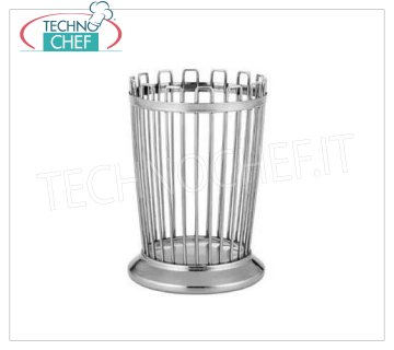 Technochef - STAINLESS STEEL HOLDER H 14, Mod.13645 Breadstick holder in stainless steel, 14 cm high.