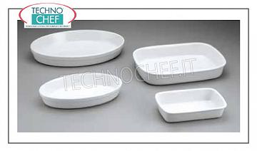 Porcelain baking dishes White oval fire dish, brand SATURNIA