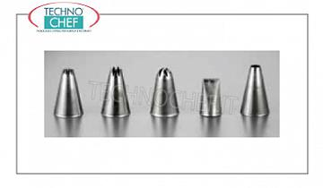Decoration bag nozzles Stainless steel decorative nozzle with assorted holes, Brand PIAZZA - 5-pack