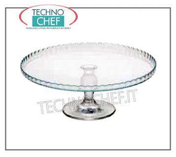 Get up for cake GLASS LIGHT WITH PLATE, PASABAHCE, H.12,5, Diameter Cm.32