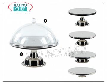 Get up for cake INSIDE STAINLESS STEEL LIGHT, ILSA, Plate Diameter Cm.20, H.da 7 to 15 Cm, ​​depending on the mounting combination