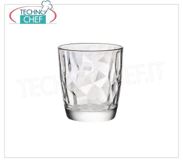 TRANSPARENT WATER GLASS, BORMIOLI ROCCO, Diamond Collection, CL.30.5 TRANSPARENT WATER GLASS, BORMIOLI ROCCO, Diamond Collection, CL.30,5, H 9,2, Diam.cm.8,5 - Available in packs of 15 pieces