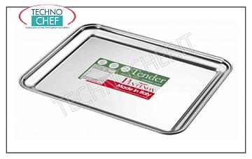 Pastry trays RECTANGULAR TRAY IN STAINLESS STEEL 18 / C, PINTINOX, Collection Tender, Cm. 25x20