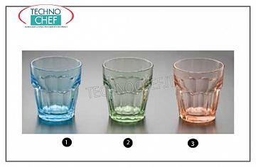 Colored glasses ROCKS LIGHT BLUE GLASS, BORMIOLI ROCCO, Rock Bar Lounge Collection Stackable Tempered