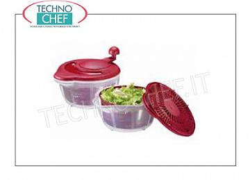 Manual salad spinner
