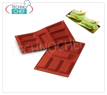 Silicone mold '' Large Financier '', dim.mm.95x45, h 12 '' Large Financier 'baking mold in flexible and non-stick silicone, dim.mm 95x45, h 12 mm