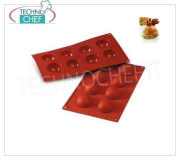 Silicone mold '' Semisphere '', Ø50 h 25 mm '' Semisphere 'baking mold in flexible and non-stick silicone, diameter 50 mm, h 25 mm