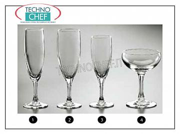 Glasses for the Table - complete coordinated series FLUTE GLASS, ARCOROC, Elegance Collection
