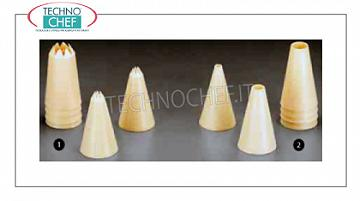 Decoration bag nozzles Plastic nozzle with festooned for decorating - Available in 6-pack