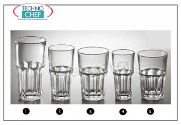 Glasses for water and wine GLASS, ARCOROC, Tempered Granity Collection