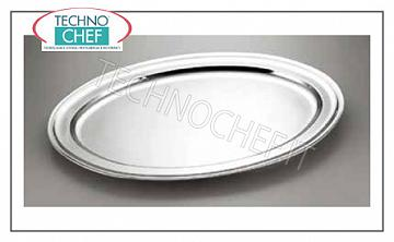 Stainless steel trays OVAL FLOOR TRAY WITH INOX BOARD CM.65