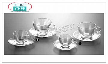 Coffee cups - cappuccino in glass COFFEE CUP WITH DISH, PASABAHCE, Basic Line