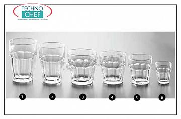 Glasses for water and wine GLASS, BORMIOLI ROCCO, Rock Bar Stackable Tempered Collection