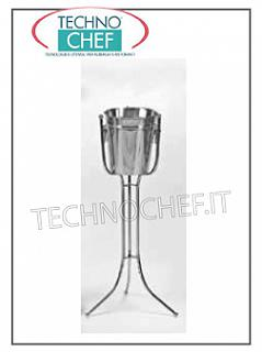 Buckets Bottle holders for wines, sparkling wines and champagne CHAMPAGNE HOLDER COLUMN SQUARE INOX H 60