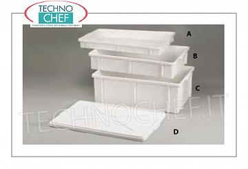 Technochef - Pizza dough container 60x40x6h cm PIZZA DOOR BOX PIZZA, STACKABLE, IN FOOD PLASTIC DIM. MM. 600X400X60