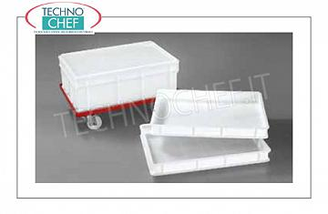 Pizza tin boxes Stackable cassette, HORECA, Cm.60x40x7