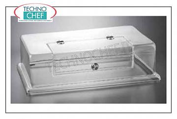 Neutral counter display counters GASTRO-NORM COVER WITH WINDOW OPEN, CM.54X34,5X15 H