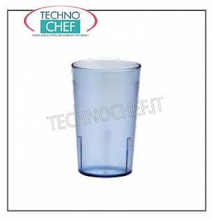 Glasses in San GLASS SAN BLU in Polycarbonate, CAMBRO, CL.28,5, H 11, Diameter Cm.7 - Available in packs of 6 pieces