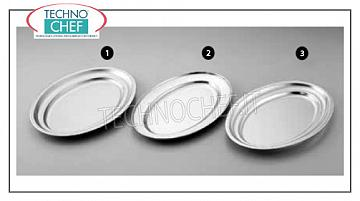 Stainless steel trays OVAL STAINLESS STEEL 18/0