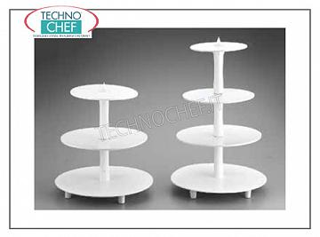 Get up for cake Cake stand 2 white plastic planes, Diameter Cm.34-23