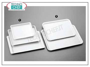 Pastry trays Rectangular white plastic display tray - Available in packs of 10 pieces
