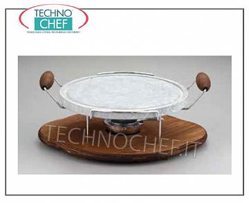 OLLARE stone cooking plates ROUND OIL STONE WITH WOODEN BASE AND DIAMETER STOVE CM.30