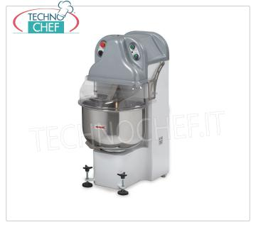 DIVIDER ARM MIXER, Line BE, with Lt.40 STAINLESS STEEL TANK, version with VARIABLE SPEED MIXER ARM DIVIDER, Line BE, with stainless steel tank from lt.40, mixing capacity 23 Kg, version with variable speed, V.230 / 1, Kw.2,2, Weight 145 Kg, dim.mm.460x690x1100h