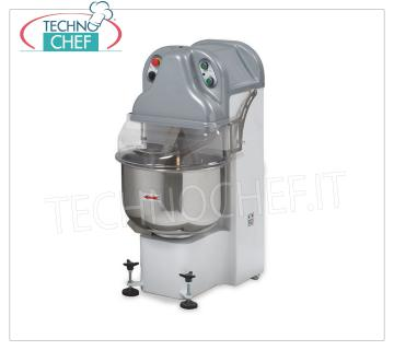 DIVIDER ARM MIXER, Line BE, with lt.65 STAINLESS STEEL TANK, VARIABLE SPEED version DIVIDER ARM MIXER, Line BE, with stainless steel tank lt.65, mixing capacity 45 Kg, variable speed version, V.230 / 1, Kw.2,2, Weight 170 Kg, dim.mm.540x790x1200h