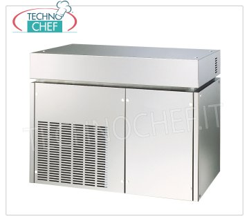 Flake ice makers / machines without deposit Flake ice maker, without deposit, external stainless steel, air / water cooling, yield 400Kg / 24 hours, V 230/1, Kw 2,1, weight Kg 137, dimensions mm 900x588x705h