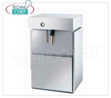 Flake ice makers / machines without deposit Flake ice maker, without deposit, stainless steel exterior, water cooling, yield 400 Kg / 24 hours, V 230/1, Kw 2.2, weight Kg 66, dimensions 495x588x705h mm.